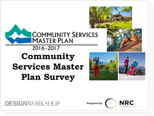 Community Services Master Plan Survey Results Presentation 2-21-2018