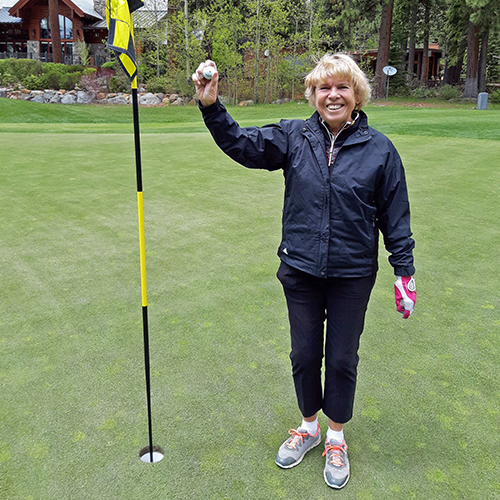 Jan overton got a hole in one