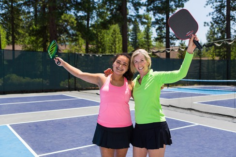 pickleball pair happy